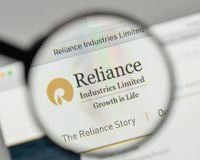 Milan, Italy - November 1, 2017: Reliance Industries logo on the. Website homepage Stock Images