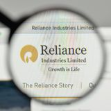 Milan, Italy - November 1, 2017: Reliance Industries logo on the. Website homepage Royalty Free Stock Image