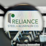 Milan, Italy - November 1, 2017: Reliance Steel & Aluminum logo. Milan, Italy - November 1, 2017: Reliance Steel & Aluminum logo on the website homepage Stock Image