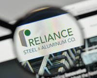 Milan, Italy - November 1, 2017: Reliance Steel & Aluminum logo. Milan, Italy - November 1, 2017: Reliance Steel & Aluminum logo on the website homepage Stock Photography