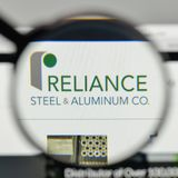 Milan, Italy - November 1, 2017: Reliance Steel & Aluminum logo. Milan, Italy - November 1, 2017: Reliance Steel & Aluminum logo on the website homepage Royalty Free Stock Photography