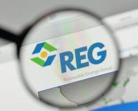 Milan, Italy - November 1, 2017: Renewable Energy Group logo on Royalty Free Stock Images