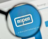 Milan, Italy - November 1, 2017: Roper Technologies logo on the. Website homepage Stock Image