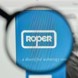Milan, Italy - November 1, 2017: Roper Technologies logo on the. Website homepage Stock Photography