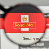 Milan, Italy - November 1, 2017: Royal Mail logo on the website. Homepage Stock Images