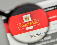 Milan, Italy - November 1, 2017: Royal Mail logo on the website. Homepage Stock Photography