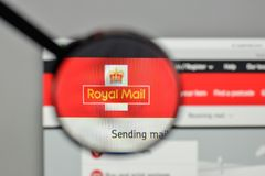 Milan, Italy - November 1, 2017: Royal Mail logo on the website. Homepage Royalty Free Stock Image