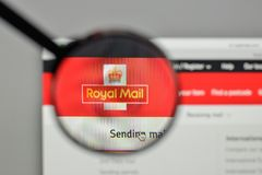 Milan, Italy - November 1, 2017: Royal Mail logo on the website. Homepage Royalty Free Stock Images