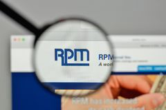 Milan, Italy - November 1, 2017: RPM International logo on the w. Ebsite homepage Stock Photos