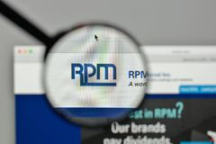 Milan, Italy - November 1, 2017: RPM International logo on the w. Ebsite homepage Stock Image
