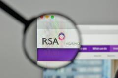Milan, Italy - November 1, 2017: RSA Insurance Group logo on the. Website homepage Royalty Free Stock Image
