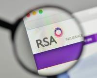 Milan, Italy - November 1, 2017: RSA Insurance Group logo on the. Website homepage Stock Photo