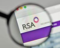 Milan, Italy - November 1, 2017: RSA Insurance Group logo on the. Website homepage Royalty Free Stock Photo