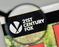 Milan, Italy - November 1, 2017: 21st Century Fox logo on the we royalty free stock photo