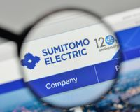 Milan, Italy - November 1, 2017: Sumitomo Electric Industries lo. Go on the website homepage Stock Photo