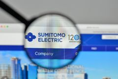 Milan, Italy - November 1, 2017: Sumitomo Electric Industries lo. Go on the website homepage Royalty Free Stock Image