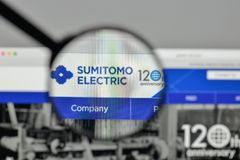 Milan, Italy - November 1, 2017: Sumitomo Electric Industries lo. Go on the website homepage Stock Photography