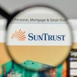 Milan, Italy - November 1, 2017: Sun Trust Banks logo on the web. Site homepage Stock Photos