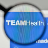 Milan, Italy - November 1, 2017: Team Health Holdings logo on th. E website homepage Royalty Free Stock Photos