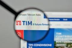 Milan, Italy - November 1, 2017: Telecom Italia logo on the webs. Ite homepage Royalty Free Stock Images