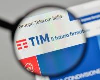Milan, Italy - November 1, 2017: Telecom Italia logo on the webs. Ite homepage Royalty Free Stock Photography