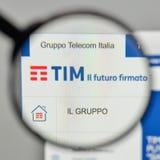 Milan, Italy - November 1, 2017: Telecom Italia logo on the webs. Ite homepage Royalty Free Stock Photos