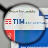 Milan, Italy - November 1, 2017: Telecom Italia logo on the webs. Ite homepage Stock Photo