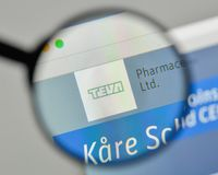 Milan, Italy - November 1, 2017: Teva Pharmaceutical Industries. Logo on the website homepage Stock Photography