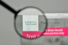 Milan, Italy - November 1, 2017: Teva Pharmaceutical Industries. Logo on the website homepage Stock Images