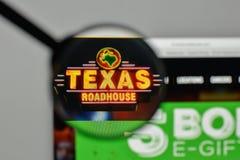 Milan, Italy - November 1, 2017: Texas Roadhouse logo on the web. Site homepage stock image