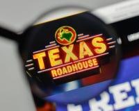 Milan, Italy - November 1, 2017: Texas Roadhouse logo on the web. Site homepage stock photos