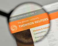 Milan, Italy - November 1, 2017: Thomson Reuters logo on the web. Site homepage Royalty Free Stock Images