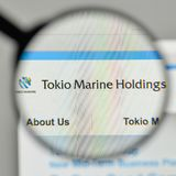 Milan, Italy - November 1, 2017: Tokio Marine Holdings logo on t. He website homepage Royalty Free Stock Image