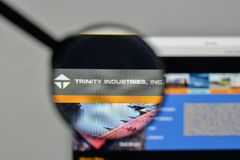 Milan, Italy - November 1, 2017: Trinity Industries logo on the. Website homepage Royalty Free Stock Photo