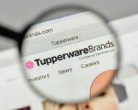 Milan, Italy - November 1, 2017: Tupperware Brands logo on the w. Ebsite homepage stock photo