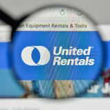 Milan, Italy - November 1, 2017: United Rentals logo on the webs Royalty Free Stock Photos