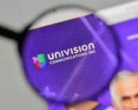 Milan, Italy - November 1, 2017: Univision Communications logo o stock images
