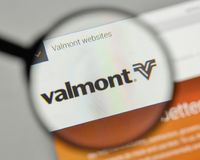 Milan, Italy - November 1, 2017: Valmont Industries logo on the. Website homepage Stock Photos
