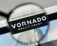 Milan, Italy - November 1, 2017: Vornado Realty Trust logo on th. E website homepage Royalty Free Stock Photo