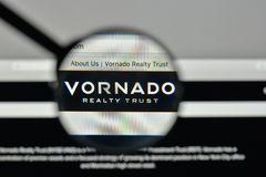 Milan, Italy - November 1, 2017: Vornado Realty Trust logo on th. E website homepage Stock Images