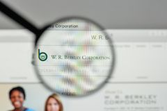 Milan, Italy - November 1, 2017: W.R. Berkley logo on the websit Stock Photos