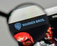 Milan, Italy - November 1, 2017: Warner Bros. logo on the websit. E homepage Royalty Free Stock Photography