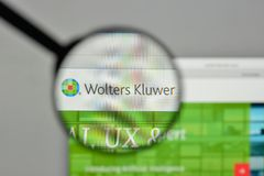 Milan, Italy - November 1, 2017: Wolters Kluwer NV logo on the w. Ebsite homepage Stock Photos