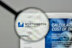 Milan, Italy - November 1, 2017: Worthington Industries logo on. The website homepage Stock Images
