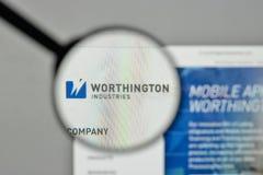 Milan, Italy - November 1, 2017: Worthington Industries logo on. The website homepage Stock Photography