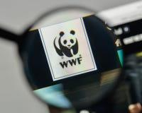 Milan, Italy - November 1, 2017: wwf logo on the website homepag. E Royalty Free Stock Images