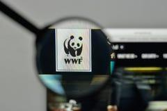 Milan, Italy - November 1, 2017: wwf logo on the website homepag. E Royalty Free Stock Image