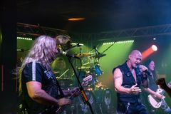 Primal Fear at Legend Club MI 03-10-2018. Milan, Italy - October 3, 2018: German power metal band PRIMAL FEAR performs at Legend Club. Brambilla Simone Live News stock photography