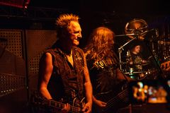 Primal Fear at Legend Club MI 03-10-2018. Milan, Italy - October 3, 2018: German power metal band PRIMAL FEAR performs at Legend Club. Brambilla Simone Live News royalty free stock photography