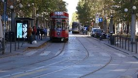 Old tram stock footage